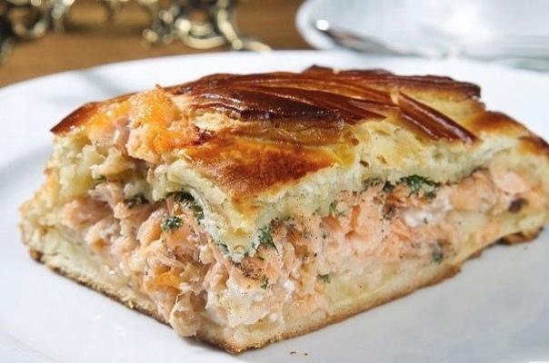 Самый бюджетный пирог. И нереально вкусный!    Ингредиенты:    ● кефир 1ст.,  ● сырое яйцо 1 шт.,  ● мука 1 ст.,  ● сода ½ ч.л.    Начинка:  ● рыбные консервы 1 б. (можно по вкусу и любоые),  ● отварные яйца 2 шт.,  ● любая зелень, сыр 50 г...
