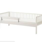 Каркас кровати с реечным дном, белый, 70x160 см