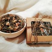 """Чай Саган Дайля с цветами, редкий вид """"Элитный"""" в крафт коробке с окошком 20гр"""