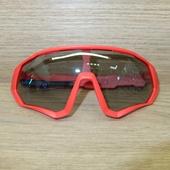 Очки ELAX широкие с вентиляцией Красные, Серая линза