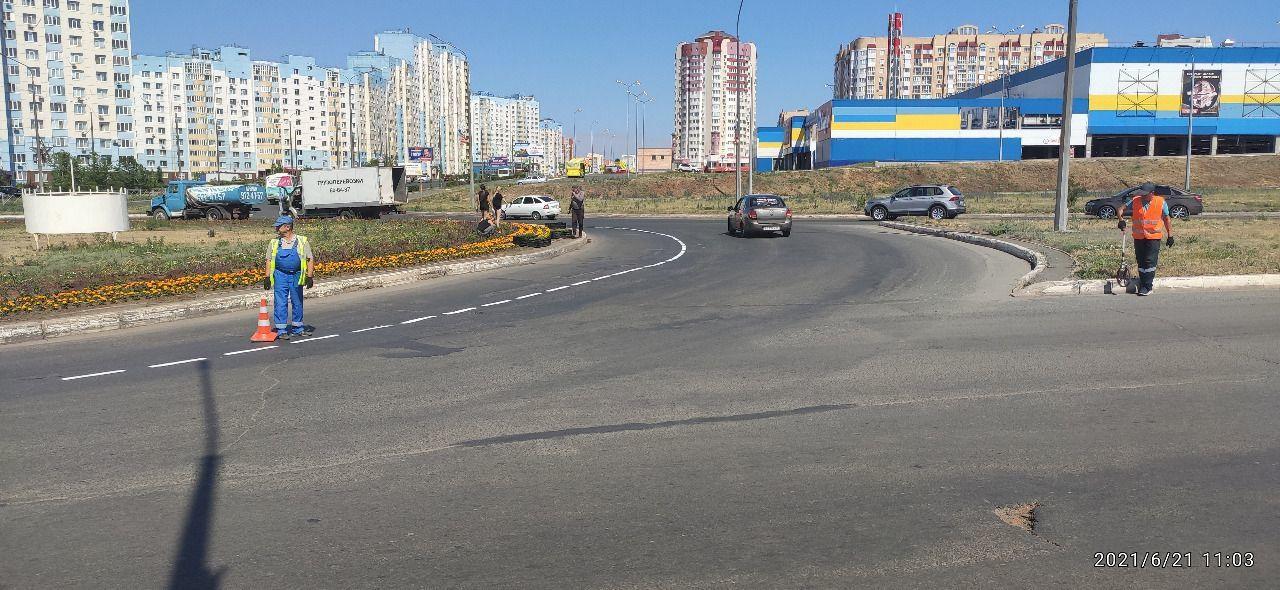 В Оренбурге на улице Гаранькина появилась термопластиковая разметка