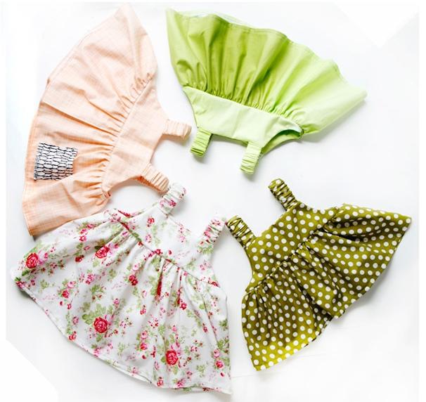 Чудесный летний сарафан для самой маленькой модницы шьется легко и быстро!