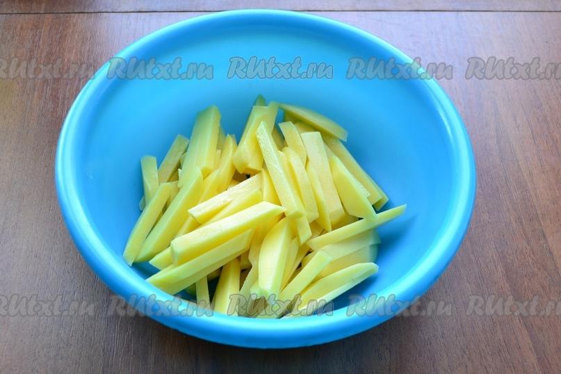 Картофель фри в микроволновке от Елены Калининой