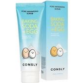 Очищающий скраб с содой и яичным белком Consly Baking Soda & Egg Pore Minimising Scrub