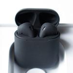 Airpods 2 в черном цвете Full Custom