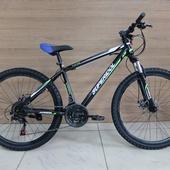 """Велосипед SUPERIDOL SUP560 26"""" Чёрный/Зелёный"""