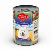 РОДНЫЕ КОРМА консервы для собак ягненок с рисом по-кавказски 970г