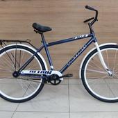 "Велосипед ALTAIR CITY HIGH 28"" (2021) Синий/Белый"