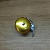 Звонок велосипедный Колокольчик, звонкий золотой