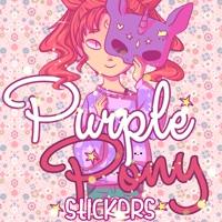 Stickers Purple Pony