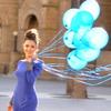 Воздушные шарики с гелием.