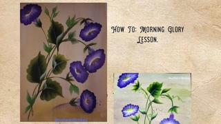 How to paint Morning Glory one Stroke Painting